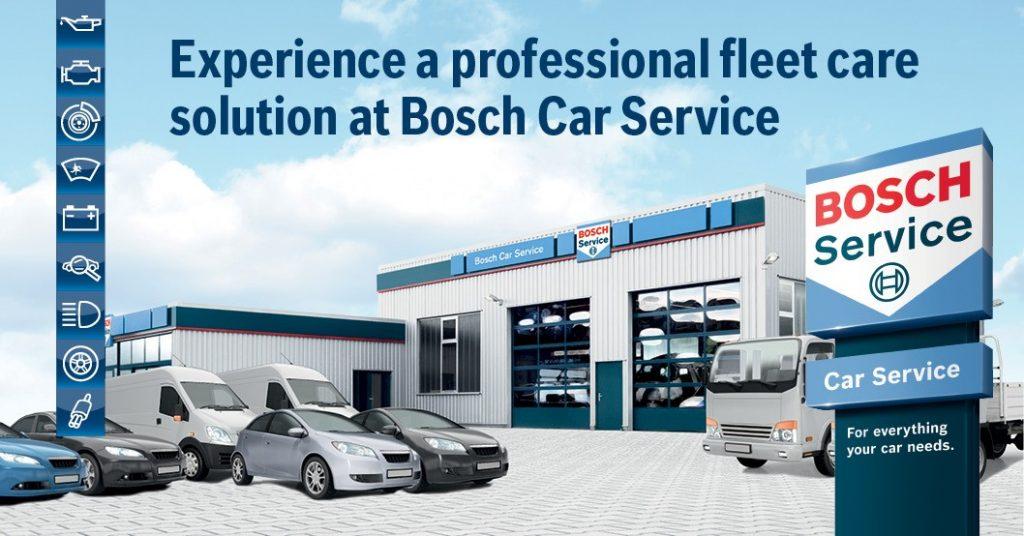 Photo Of A Bosch Fleet Servicing Banner